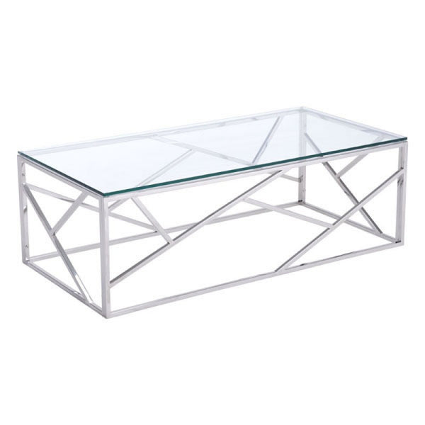 CAGE COFFEE TABLE POLISHED SS