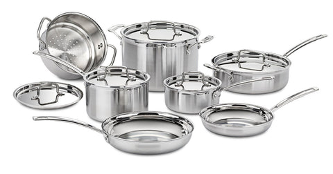 12 piece multi clad stainless