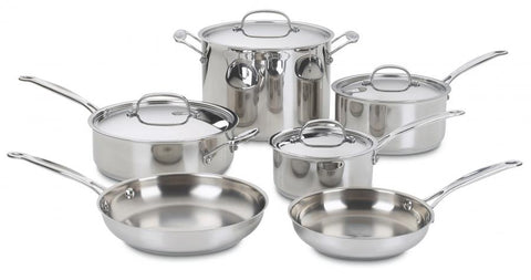 Cuisinart Chef's Classic 10 Piece Cookware Set - STAINLESS COOK SET