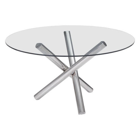 STANT ROUND DINING TABLE CHROME