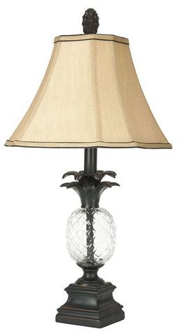 ALANNA 24-INCH H GLASS PINEAPPLE LAMP