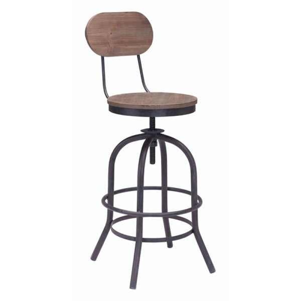 TWIN PEAKS COUNTER CHAIR D. NATURAL
