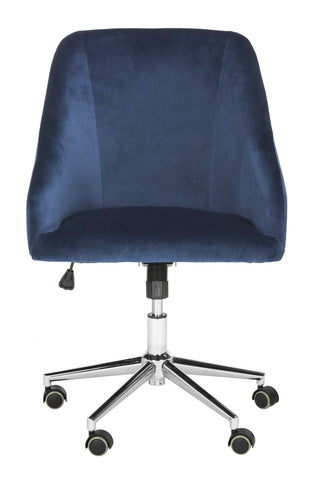Adrienne Velvet Chrome Leg Swivel Office Chair