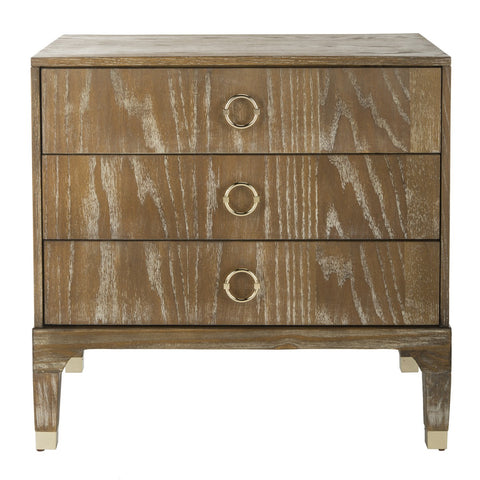 Lorna 3 Drawer Contemporary Night Stand