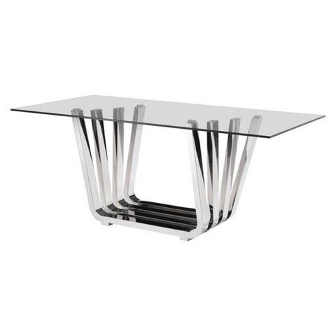 FAN DINING TABLE CHROME