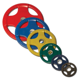 255 lb. Rubber Grip Olympic Set (plates only)