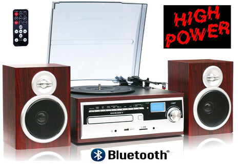 Odc38wd Sp, High Power 50w, 3 Speed Classic Retro Turntable, Blu