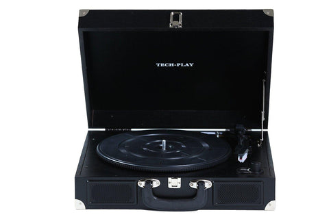 Techplay Odc5e-bk Rb  AC-DC Portable Suitcase 3 Speed Turntable - Refurbished