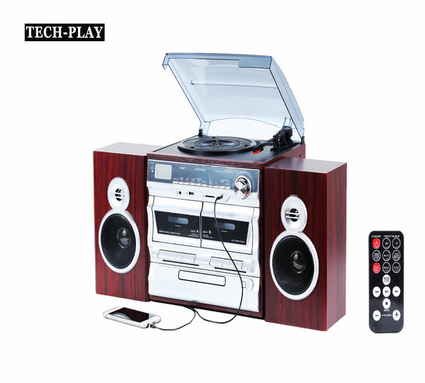Techplay Karaoke Enabled, 30w Rms, Retro Classic Turntable With