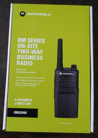 Motorola RMU2040 On-site 4 Channel Uhf Rugged Two-way Business R
