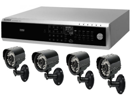 Samsung 4 Channel DVR With 4 Camera Package - Refurbished