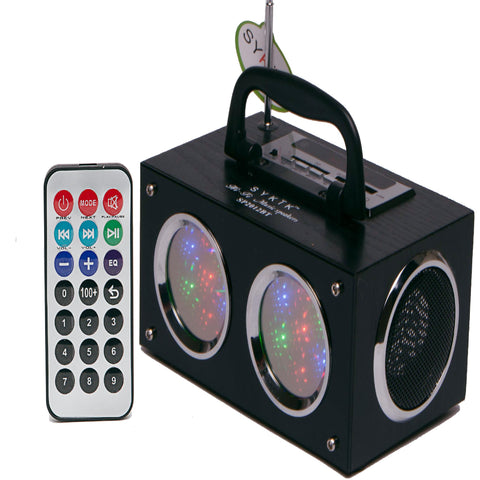 Sykik SP2012BT, Mini Bluetooth Boom Box, With Dancing Light Show - NEW