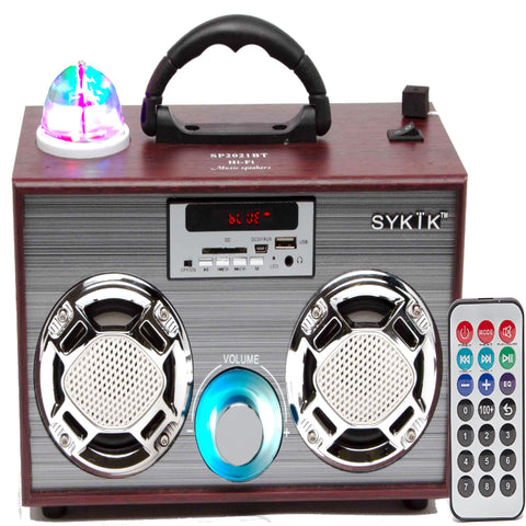 Sykik Sp2021bt  Rb, Bluetooth Boombox With Sd-mmc-usb, Fm Radio, - Refurbished