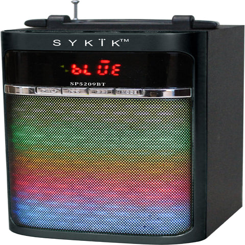 Sykik SP5209BT Bluetooth Portable Speaker With Light Show, Power - NEW