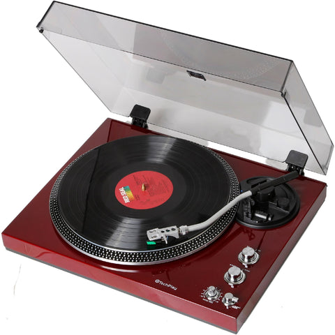 Techplay Tcp4530 Che Rb, Analog Turntable With Built-in Phono Pr - Refurbished