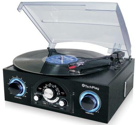 Techplay TCP5 Turntable With Pitch Control, Am-fm Radio, Sd USB - new