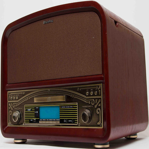 Techplay TCP9560 BN RB, High Power 20w Retro Wooden 3 Speed Blue - Refurbished