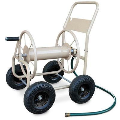 4 Wheel Indust Hose Cart Tan