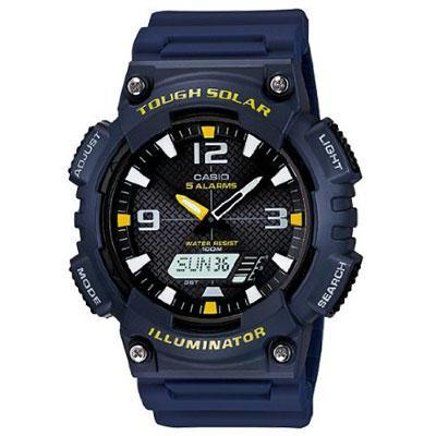 Solar Anadigi Watch Navy Wht
