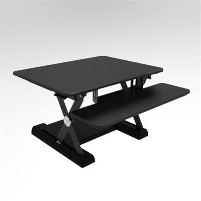 Sit Stand Desk Black