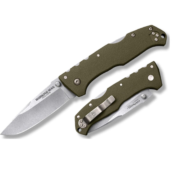 Cold Steel Working Man Fixed 3-1-2in Bld 8in Overall -OD Grn