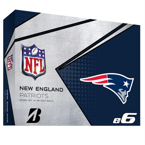 Bridgestone E6 New England Patriots Golf Balls-Dozen