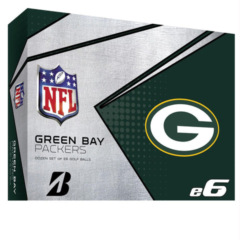 Bridgestone E6 Green Bay Packers Golf Balls-Dozen
