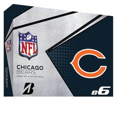 Bridgestone E6 Chicago Bears Golf Balls-Dozen