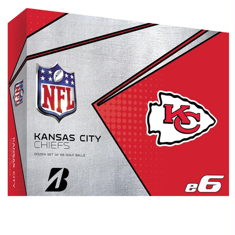 Bridgestone E6 Kansas City Chiefs Golf Balls-Dozen