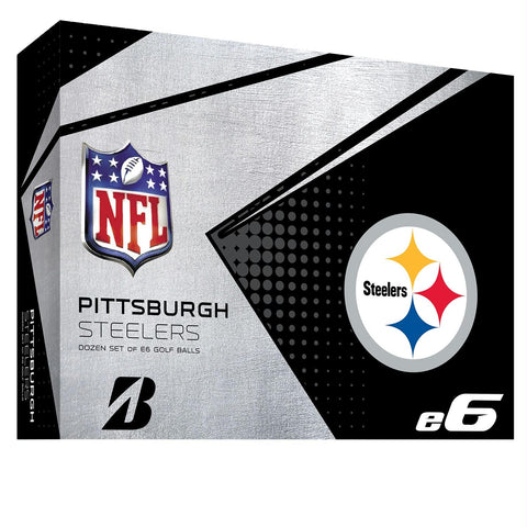 Bridgestone E6 Pittsburgh Steelers Golf Balls-Dozen