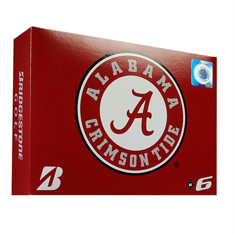 Bridgestone E6 Alabama Crimson Tide Golf Balls-Dozen