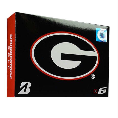 Bridgestone E6 Georgia Bulldogs Golf Balls-Dozen