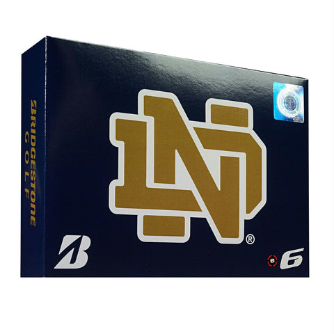 Bridgestone E6 Notre Dame Fighting Irish Golf Balls-Dozen