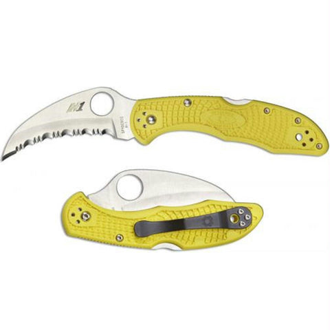 Spyderco Salt 2 Folder - Lightweight Yellow FRN - Serrated