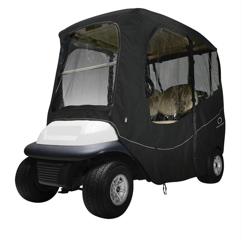 Classic Fairway Golf Cart Deluxe Enclosure Short Roof Black