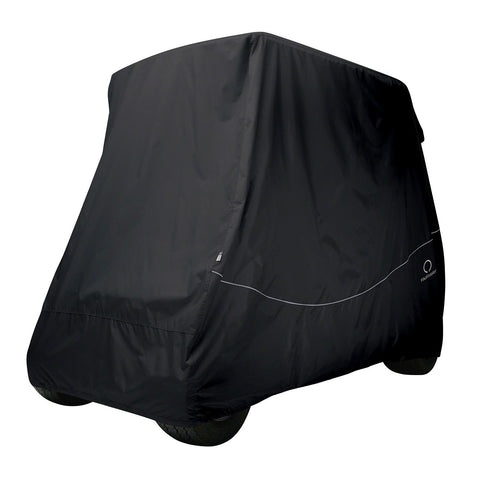 Classic Fairway Golf Cart Quick-Fit Cover Short Roof - Black