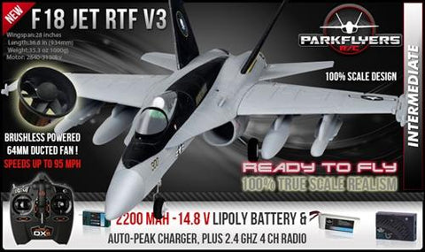 F-18-Version 3 Electric RC Jet RTF