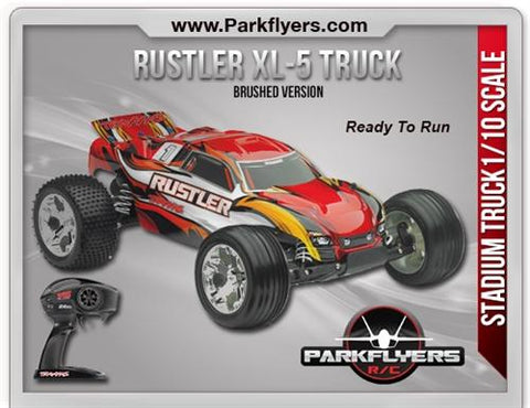 The Traxxas Rustler 1-10 Scale 2WD Stadium Truck XL-5® RC Car