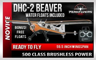"DHC-2 Beaver 59.5"" RTF Plane - Bonus ! Free Water Floats Included"