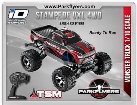 Traxxas 1-10 Stampede VXL 4X4 RTR w-iD Connector