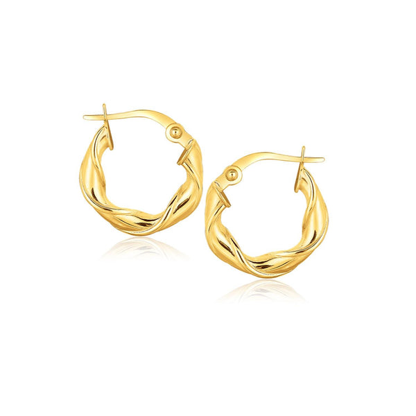 14K Yellow Gold Hoop Earrings (5-8 inch)