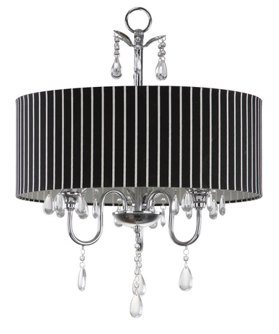 ABBEVILLE 3 LIGHT CHROME BEADED 18-INCH DIA CHANDELIER