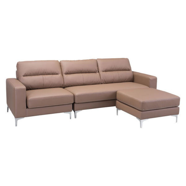 VERSA SECTIONAL BROWN