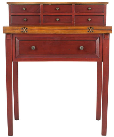 Abigail 7 Drawer Fold Down Desk