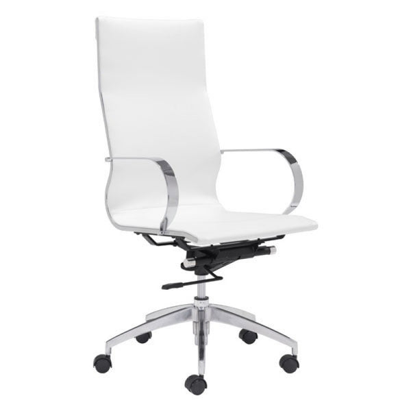 GLIDER HIGH BACK OFFICE CHAIR WHITE