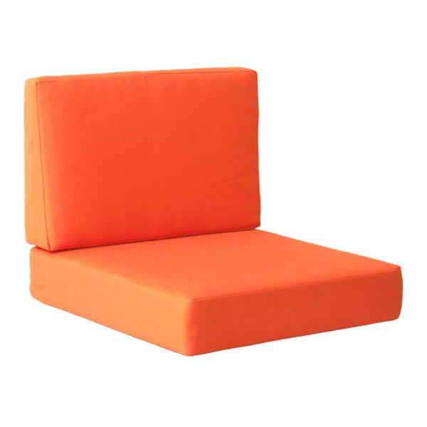 COSMOPOLITAN ARM CHAIR CUSHIONS ORANGE