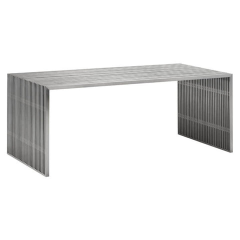 NOVEL DINING TABLE BRUSHED SS
