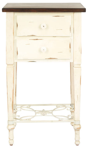 Monica Two Drawer Side Table