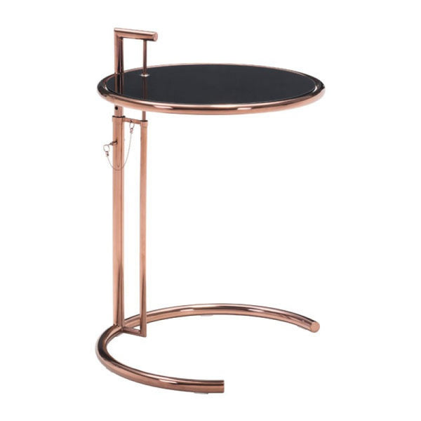 EILEEN GRAY SIDE TABLE ROSE GOLD