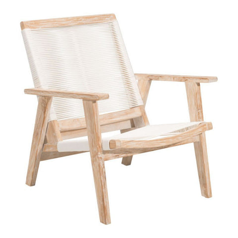 WEST PORT ARM CHAIR WHITE WASH & WHITE